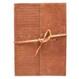 Stand Firm Journal, Genuine Leather, Tan with Wrap Closure