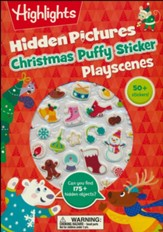 Christmas Hidden Pictures Puffy Sticker Playscenes