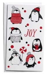 Joy, Penguins, Christmas Cards, Box of 16