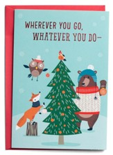 Wherever You Go, Christmas Tree, Animals, Christmas Cards, Box of 18