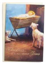 Christmas, It's All About Jesus, Manger, Christmas Cards, Box of 18