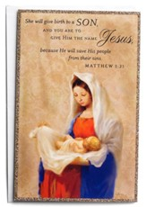 She Will Give Birth to a Son Christmas Cards, Box of 18
