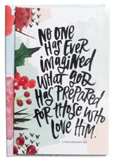 No One Has Ever Imagined What God Has Prepared Christmas Cards, Box of 18