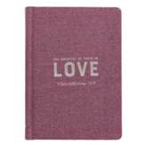 The Greatest of These Is Love Journal, Purple
