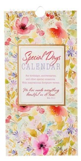 Special Days and Occasion Reminder Calendar, Pink