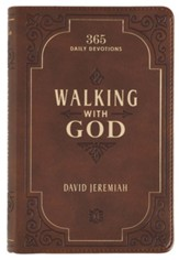 Walking with God Devotional, LuxLeather Brown