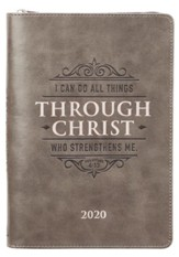 I Can Do All Things Through Christ, 2020 Executive Planner  with Zipper - Slightly Imperfect