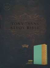 CSB Tony Evans Study Bible--soft leather-look, teal/earth (indexed)