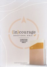 CSB (in)courage Devotional  Bible--soft leather-look, desert/mustard/alabaster