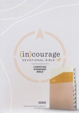 CSB (in)courage Devotional Bible--soft leather-look, desert/mustard/alabaster (indexed)