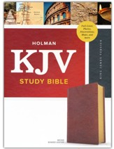 KJV Study Bible, Full-Color--bonded leather, brown