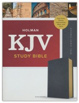 KJV Study Bible, Full-Color--premium leather, black