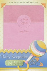 Baby Keepsake Bible, Pink - Slightly Imperfect