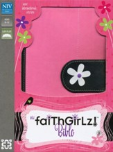 NIV Faithgirlz! Bible, Revised Edition, Italian Duo-Tone, Pink/Black