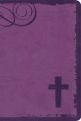 NIV Rock Solid Faith Study Bible for Teens, Italian Duo-Tone Violet