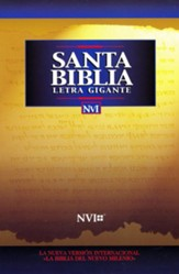 Santa Biblia NVI Letra Gigante, Piel Imit. Negra  (NVI Giant Print Bible, Imitation Leather, Black)