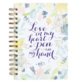 Love in My Heart A Pen in My Hand Wirebound Journal