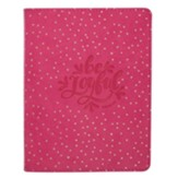 Be Joyful Handy Journal, Dotted Pink