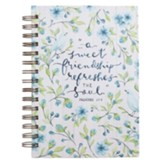 Sweet Friendship Wirebound Journal, Blue Floral