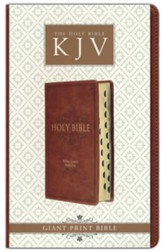 KJV Standard Giant-Print Bible--imitation leather, brown