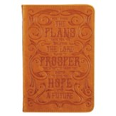 For I Know the Plans Handy Journal, Genuine Leather, Tan