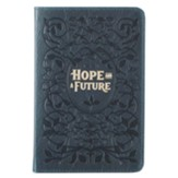 Hope and A Future Handy Journal, Genuine Leather, Blue