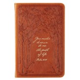 You Make Known to Me the Path of Life Handy Journal, Genuine Leather, Tan