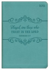 Blessed Are Those Who Trust (Jeremiah 17:7), 2021 Executive  with Zipper, Turquoise
