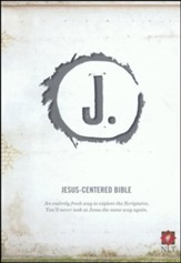 NLT Jesus Centered Bible, soft leather-look, charcoal  - Slightly Imperfect