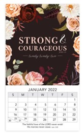 Strong And Courageous, 2022 Mini Magnetic Calendar