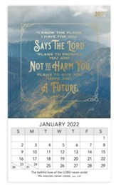 I Know The Plans, 2022 Mini Magnetic Calendar