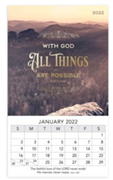 With God All Things Are Possible, 2022 Mini Magnetic Calendar
