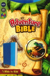 NIV Adventure Bible, Italian Duo-Tone, Electric blue/Ocean blue