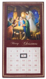 LED Lighted Nativity Countdown Calendar