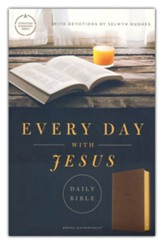 CSB Every Day with Jesus Daily Bible--soft leather-look, brown