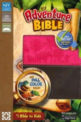 NIV Adventure Bible, Chocolate/Hot Pink - Imperfectly Imprinted Bibles