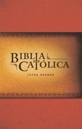 La Biblia Catolica, edicion letra grande, roja (Large Print Catholic Bible, paperback, red) - Slightly Imperfect
