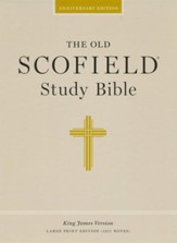 The Old Scofield Study Bible, KJV, Large Print Edition Genuine Leather Black