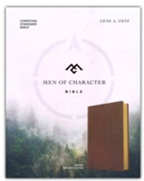 CSB Men of Character Bible--genuine leather, brown