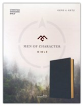 CSB Men of Character Bible--soft leather-look, black