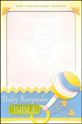 NIV Baby Keepsake Bible, White - Imperfectly Imprinted Bibles