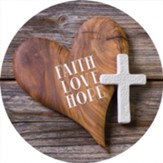 Faith, Love, Hope Car Coaster