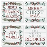 Christmas, Pine, Coasters, Set of 4