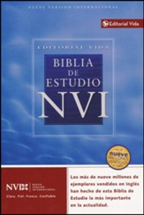 Biblia de Estudio NVI, Piel Imit. Negra Indexada  (NIV Study Bible, Imit. Leather Black, Ind.) - Slightly Imperfect