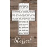 Blessed, Cross, Wall Plaque