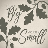 Pray Big Worry Small Coaster