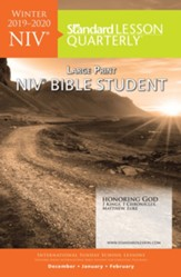 Standard Lesson Quarterly: NIV ® Large Print Bible Student, Winter 2019-20