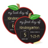 First and Last Days Chalkboard Sign, Apple Shaped