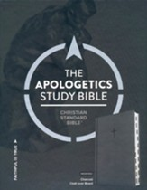 CSB Apologetics Study Bible--charcoal cloth over board,  index