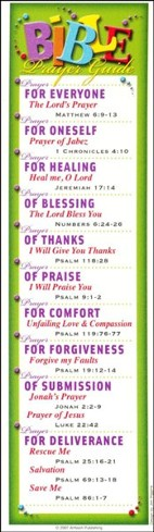 Bible Prayer Guide; Package of 10